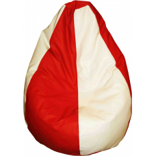 Bean Bag Classic -Red and White filled with Beans